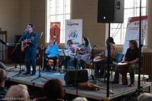 Tony, Bram, Sharon, Hootenanny Band